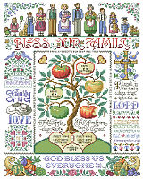Our most ornate and detailed family tree theme samplers by designer Sandy Orton will be an heirloom for generations to come.
