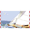 Sailing  - PDF: This project makes you wish to be sailing on the ocean breezes.