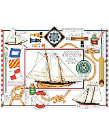Add this nautical piece to your wall décor at your seaside home or cabin.
