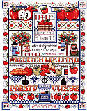 Apple Sampler: Apple Sampler is a counted cross stitch design by Linda Gillum. This sampler is colorful and the design is fabulous.