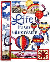 Life is an Adventure is a counted cross stitch design by Linda Gillum.