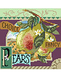 Choice Fancy Pears - PDF: Sweet and juicy, Choice Fancy Pears is one of four traditional crate-label style fruit motifs to add a bright splash of color to any room décor.