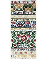 A band Sampler inspired by the golden age of English needlework during the 1600's, contains close to two-dozen specialty stitches typically used in samplers from this period.