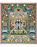 American Antique Sampler - PDF: A schoolgirl sampler that exemplifies the distinctive style indicative of the Mary Balch School, from the architectural arrangement to the moral sentiments expressed right down to the authentic stitches used.