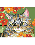 Garden Tabby Big Stitch - PDF: Serene kitty.