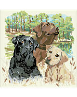 Dog lovers will delight in this beautiful cross stitch piece that honors their favorite furry friends.