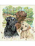 Man's Best Friend - PDF: Dog lovers will delight in this beautiful cross stitch piece that honors their favorite furry friends.