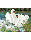 Swan Lake - PDF: Bring this fairy tale to life with this beautifully-colored and richly detailed counted cross stitch pattern that is easy enough for the beginner yet stimulating enough for even the most advanced stitcher.