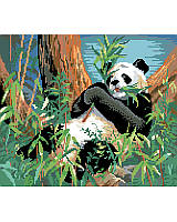 Add a pop of charming and cute style to your little one's room with this must-have panda cross stitch art. Showcasing a cuddly panda this design adds a welcoming touch to any empty wall.