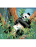 Panda - PDF: Add a pop of charming and cute style to your little one's room with this must-have panda cross stitch art. Showcasing a cuddly panda this design adds a welcoming touch to any empty wall.