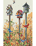 Birdhouse Trio - PDF: Solos are sweet but trios are terrific when it comes to birdhouses. So many birds are attracted to our architectural trio of bird houses in this dynamic design. This rustic yet vibrant piece is the perfect reminder of the beauty in nature that can be found all around. An accent piece that any bird lover will adore.
