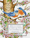 Bluebirds - PDF: Love is for the birds' a sweet pair of bluebirds, that is! 