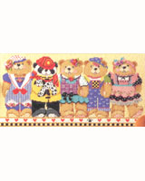 Enjoy this group of friendly teddy bears as they brighten up your room.