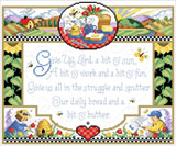PDF Download - Bring sunshine and the warmth of country into your home with this counted cross stitch sampler.