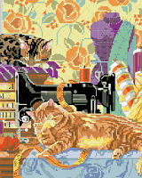 Cats in the Sewing Room