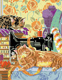 Cats in the Sewing Room - PDF: Cats in the Sewing Room