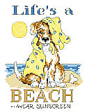 Life's A Beach - PDF : Life's a beach says it all, with this playful and scruffy little pup by Linda Gillum.