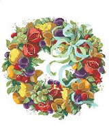 Bountiful wreath of plenty!
