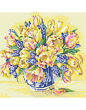 Watercolor Tulips - PDF: Magnificent Watercolor Tulips ready for that first stitch guaranteed to bring them to life.
