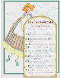 Ten Commandments for Stress Reduction - PDF: The 10 Commandments for Stress Reduction are presented by an adorable angel.
