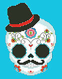Sugar Skull Blue - PDF: For centuries, people have honored the lives of those who came before them with colorful and bright sugar skulls during Day of the Dead celebrations in Latin America.
