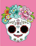 Sugar Skull Pink - PDF: For centuries, people have honored the lives of those who came before them with colorful and bright sugar skulls during Day of the Dead celebrations in Latin America.