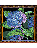 Blue Hydrangea - PDF: The bright hue of this large flower stands out against the luscious greenery of the leaves to revitalize your any decor. Would make a great Easter, Mother's Day gift or to celebrate spring.
