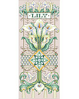 This glorious  and detailed lily sampler, with many specialty stitches, has been a sought after design by sampler fans. It brings the timeless beauty of nature to your home. Add a touch of organic appeal to any room with this challenging, heirloom design. Don't forget to check out the rest Sandy Orton's collection of floral designs.