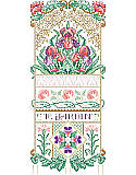 Le Jardin Sampler - PDF: Make your spring fling last all year long with a display of exotic orchids. Even when your outside plants fade, these garden favorites will still be blossoming inside your home. This design uses four specialty Kreinik threads.
