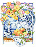 Willow Ware Classic - PDF: Timeless shades of blue and white adorn this Willow Ware china still life.