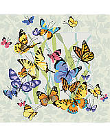 Hang this charming butterfly collage in your space to breathe new life into your home.