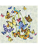 Butterfly Collage - PDF: Hang this charming butterfly collage in your space to breathe new life into your home.