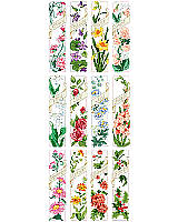 Stitch a bouquet of bookmarks to give as thoughtful gifts.  