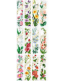 Birthday Bookmarks - PDF: Stitch a bouquet of bookmarks to give as thoughtful gifts.  