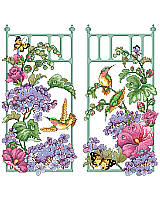 Morning is such a peaceful time of day, time to take in all the beautiful sights of nature while enjoying that first cup of fresh roast coffee. This pair captures that moment and lets you embrace it. Features hummingbirds diligently exploring the fresh flowers at daybreak.