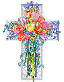 Spring Season Floral Cross - Chart