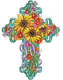 Summer Season Floral Cross - PDF: Bring bright, cheerful spirit into your space with this beautiful cross floral design.