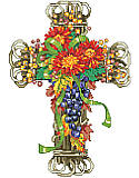 Fall Season Floral Cross - PDF: Add natural beauty and faithful feel to your décor with this fall-inspired piece.