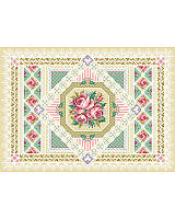 A selection of specialty stitches will add variety and interest to this sampler in counted cross-stitch. Stitched on sea foam green Aida cloth, this design will pop out at you when you stitch it.
