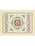 Rose Sampler - PDF: A selection of specialty stitches will add variety and interest to this sampler in counted cross-stitch. Stitched on sea foam green Aida cloth, this design will pop out at you when you stitch it.