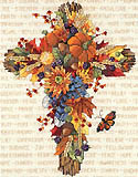 Fall Floral Cross