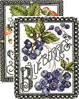 """Blackwork Berries"", comes in a set of two. What is a strawberry without a blueberry? The set will accent any room in your house, or give to someone special as a gift."