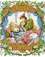 Sleeping Beauty pricked her finger on the spinning wheel and fell asleep