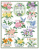 One of Kooler Design Studios most perennial designs, Flowers of the Month looks great as a sampler or as separate small motifs to celebrate a year in flowers.  Designer Nancy Rossi captured each flower so well and beautifully.