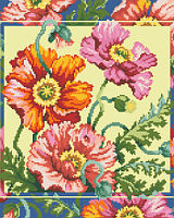Here is another gorgeous classic floral design by our designer Barbara Baatz Hillman that just pops with brilliance.