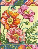 Oriental Poppies - PDF: Here is another gorgeous classic floral design by our designer Barbara Baatz Hillman that just pops with brilliance.
