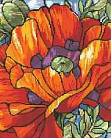 Our Stained Glass Poppies is a striking design by Nancy Rossi.