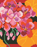 PDF ChartBright and vivid geraniums will burst off of this big stitch design.