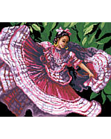 An art form that is so appealing and full of passion. This young lady's soul emanates poetic inspiration as she stamps out her Jalisco roots to the relentless folkloric rhythms.