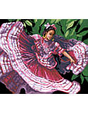 Spanish Dancer - PDF: An art form that is so appealing and full of passion. This young lady's soul emanates poetic inspiration as she stamps out her Jalisco roots to the relentless folkloric rhythms.